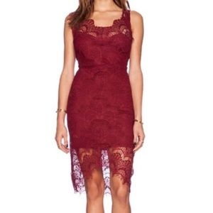 Free People Intimately Peakaboo Red Slip Dress